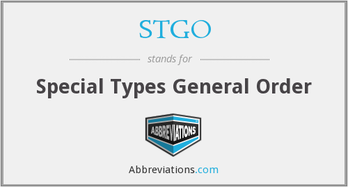 What does STGO stand for?