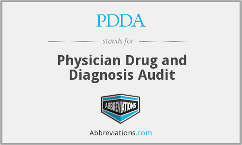 What does PDDA stand for?