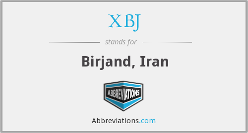 What does XBJ stand for?