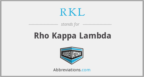 What does RKL stand for?