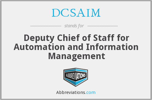 What does DCSAIM stand for?