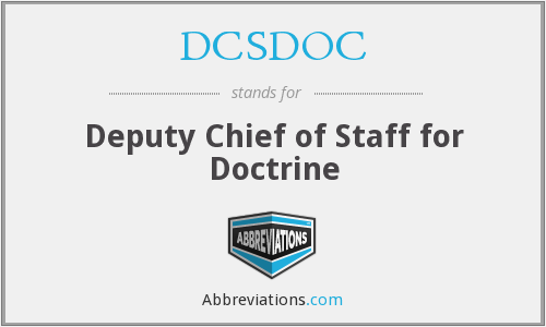 What does DCSDOC stand for?
