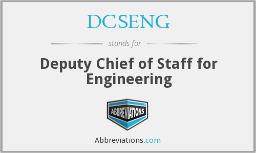 What does DCSENG stand for?