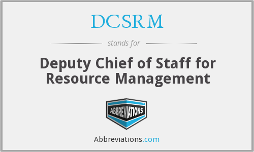 What does DCSRM stand for?