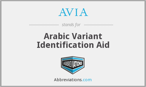 What does AVIA stand for?