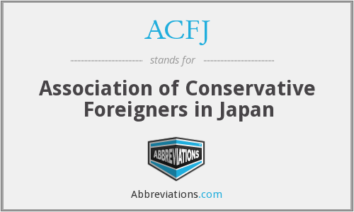 What does ACFJ stand for?