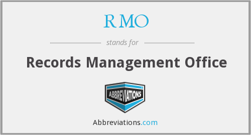 What does RMO stand for?