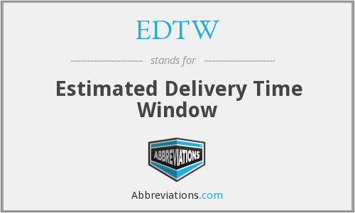What does EDTW stand for?