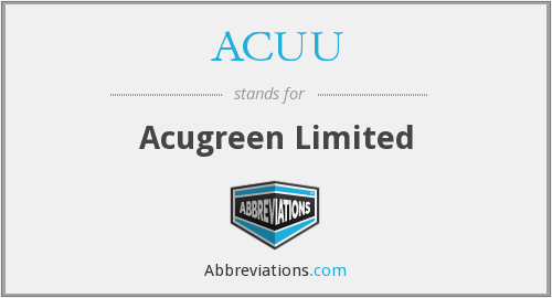 What does ACUU stand for?