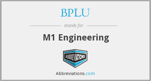 What does BPLU stand for?
