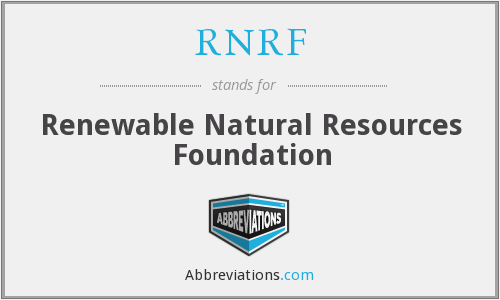 What does RNRF stand for?