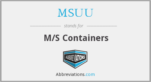 What does MSUU stand for?