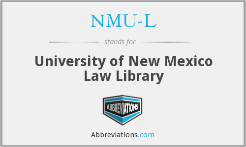 What does NMU-L stand for?