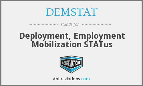 What does DEMSTAT stand for?