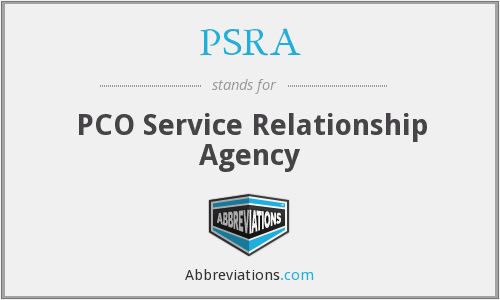 What does PSRA stand for?