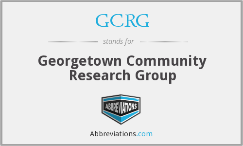 What does GCRG stand for?