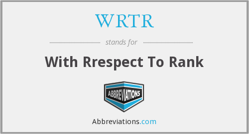 What does WRTR stand for?
