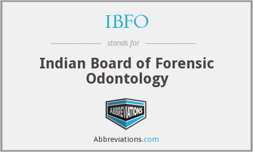 What does IBFO stand for?