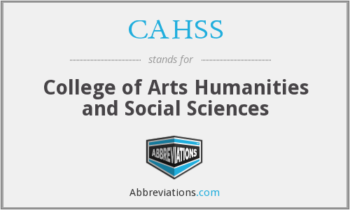 What does CAHSS stand for?