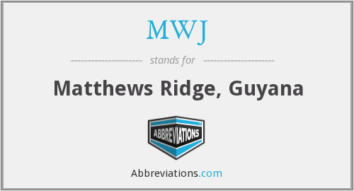 What does MWJ stand for?