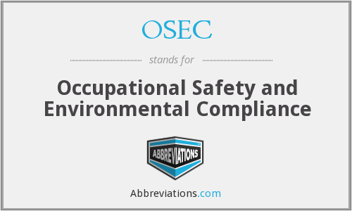 What does OSEC stand for?