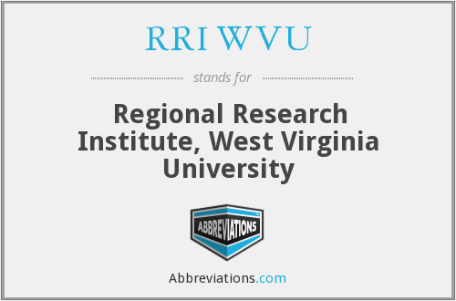 What does RRI WVU stand for?