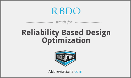 What does RBDO stand for?