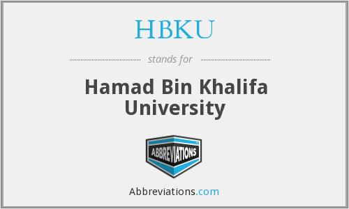 What does HBKU stand for?