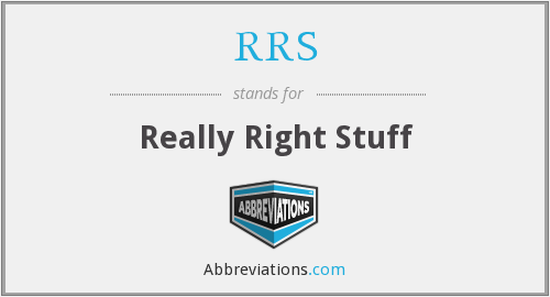 What does RRS stand for?