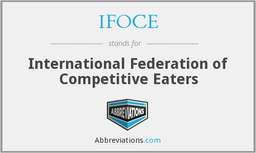 What does IFOCE stand for?