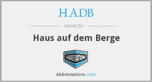 What does HADB stand for?