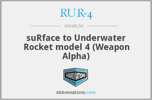 What does RUR-4 stand for?
