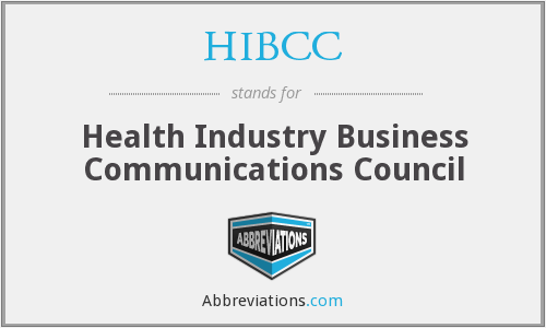 What does HIBCC stand for?