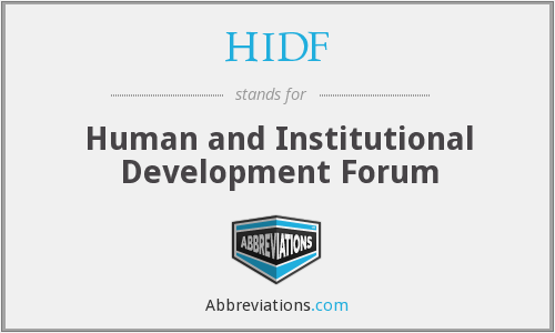 What does HIDF stand for?