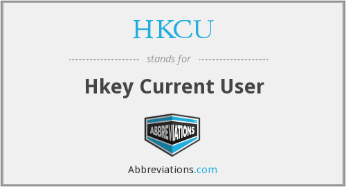 What does HKCU stand for?