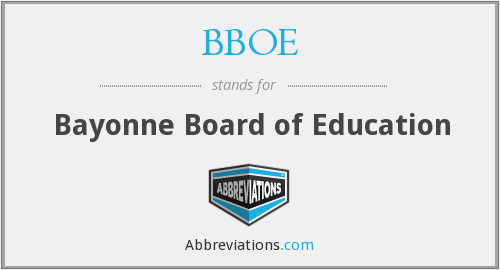 What does BBOE stand for?