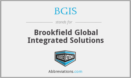 What does BGIS stand for?