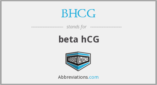 What does BHCG stand for?