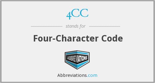 What does 4CC stand for?