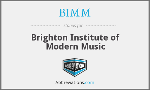 What does BIMM stand for?