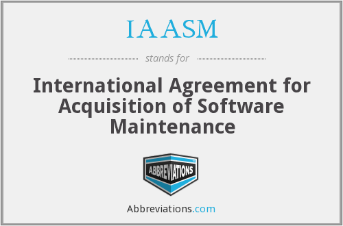 What does IAASM stand for?