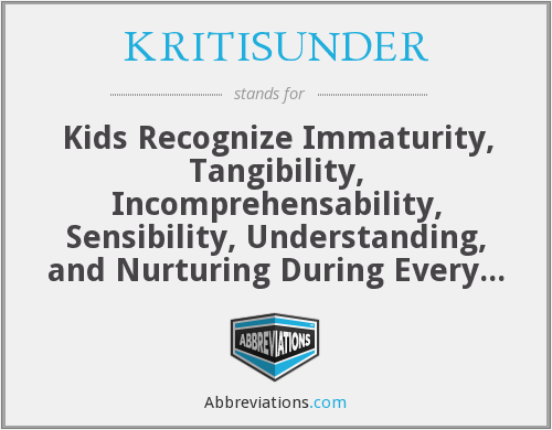 What does KRITISUNDER stand for?