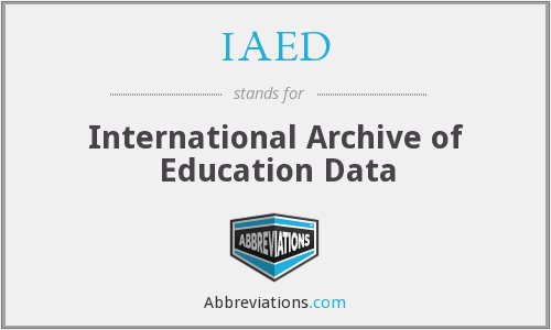 What does IAED stand for?