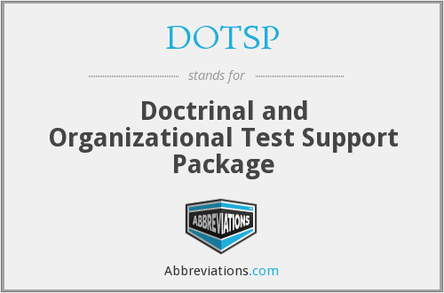 What does DOTSP stand for?