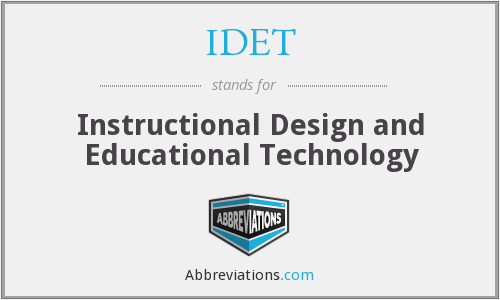 What does IDET stand for?