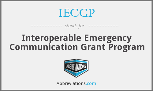 What does IECGP stand for?