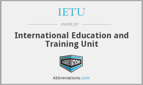 What does IETU stand for?