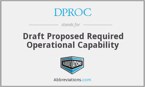 What does DPROC stand for?