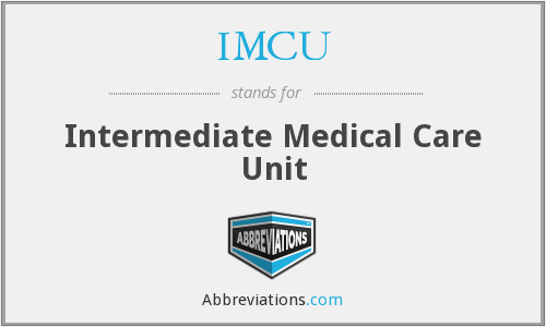 What does IMCU stand for?