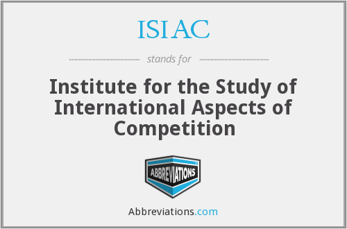 What does ISIAC stand for?